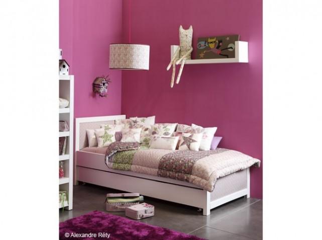 Deco chambre fille rose fushia - Deco chambre bebe rose ...