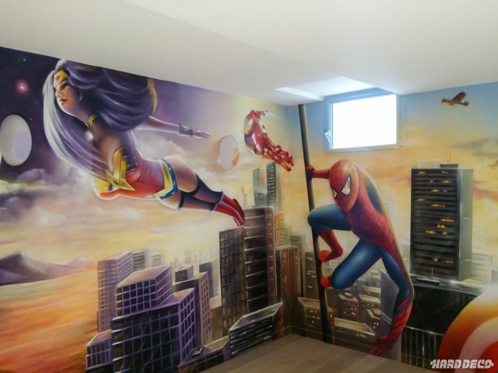 Chambre Garcon Marvel : Deco chambre garcon marvel visuel