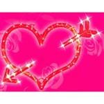 lit heart decoration