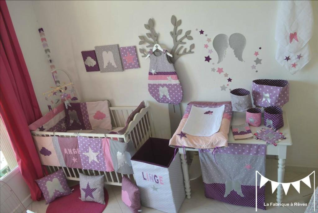 photo chambre bebe fille parme visuel 4. Black Bedroom Furniture Sets. Home Design Ideas
