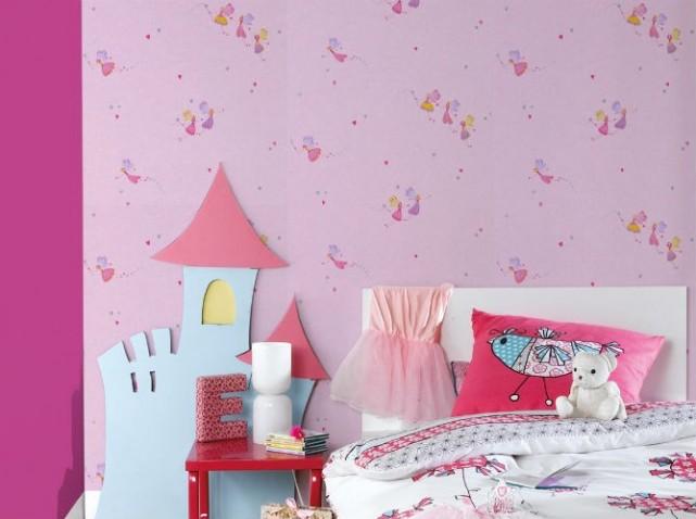 Deco chambre fille papier peint - Papier peint fille chambre ...