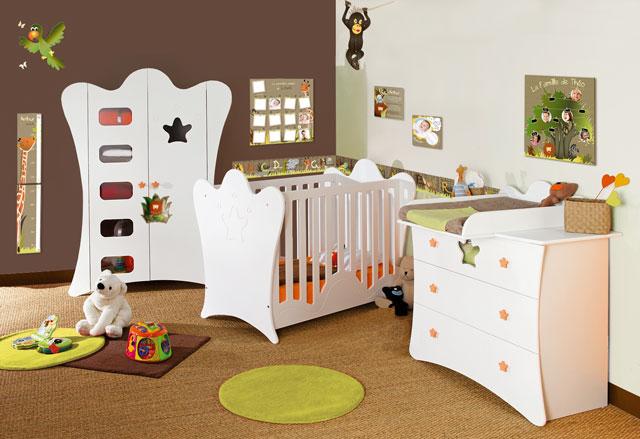 deco chambre garcon theme jungle visuel 5. Black Bedroom Furniture Sets. Home Design Ideas
