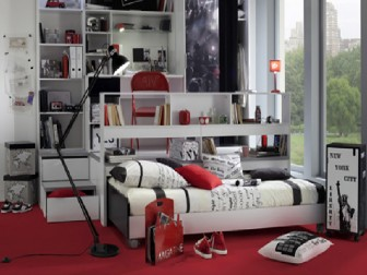 decoration chambre ado mansardee. Black Bedroom Furniture Sets. Home Design Ideas