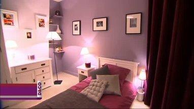 Deco chambre prune et gris visuel 7 Deco chambre prune