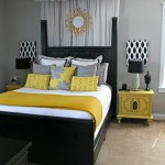 decoration chambre gris et jaune
