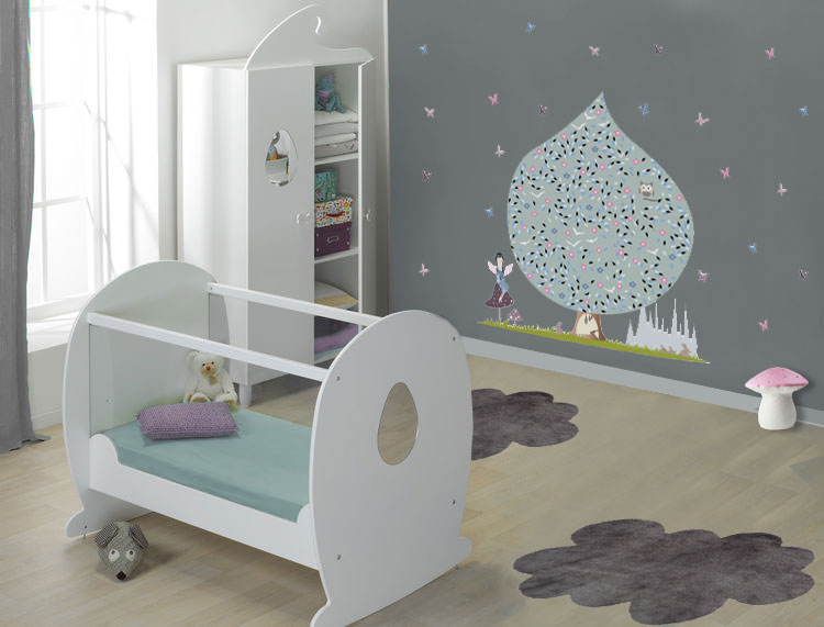 Deco chambre bebe mur blanc - Idee decoration chambre bebe garcon ...