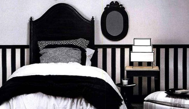 deco chambre noir blanc gris visuel 7. Black Bedroom Furniture Sets. Home Design Ideas
