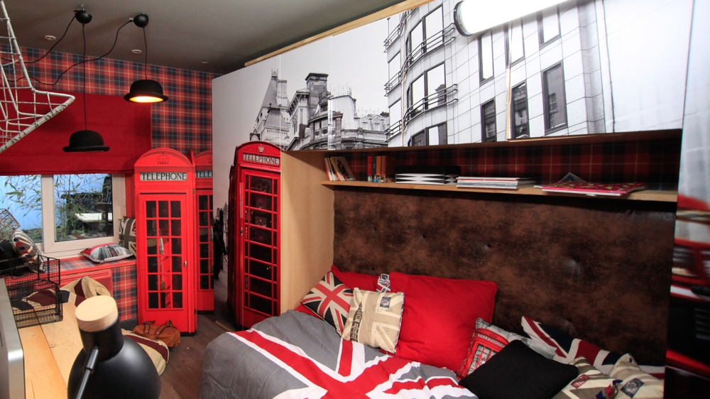 Decoration chambre ado style british - Idee deco chambre ado fille london ...