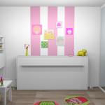decoration chambre fille en peinture