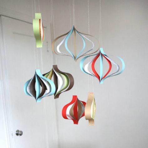 decoration de noel a faire soi meme en papier facile. Black Bedroom Furniture Sets. Home Design Ideas