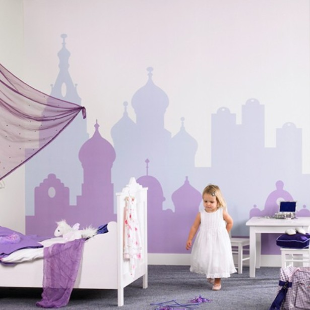 decoration et peinture chambre fille. Black Bedroom Furniture Sets. Home Design Ideas