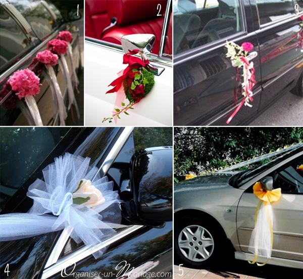 comment faire decoration voiture mariage visuel 9. Black Bedroom Furniture Sets. Home Design Ideas
