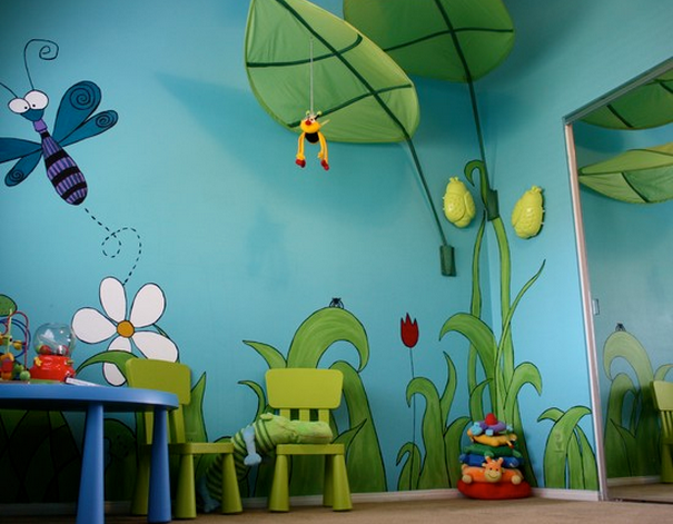 idee deco chambre bebe theme jungle visuel 9. Black Bedroom Furniture Sets. Home Design Ideas