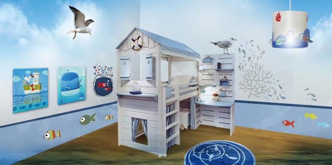deco chambre bebe theme marin