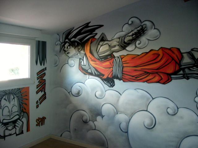 Deco chambre dragon ball z for Cuartos decorados de dragon ball z