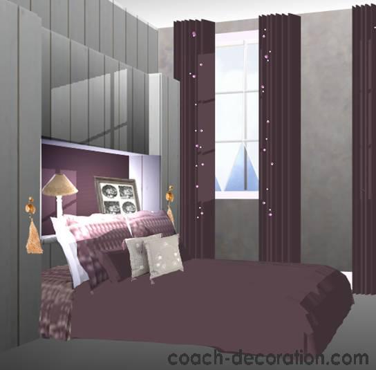 Chambre deco prune visuel 2 Deco chambre prune