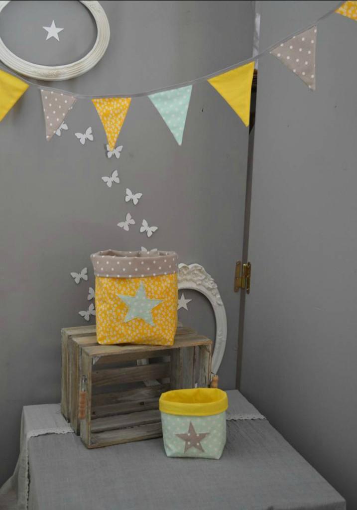 deco chambre bebe jaune gris - visuel #5