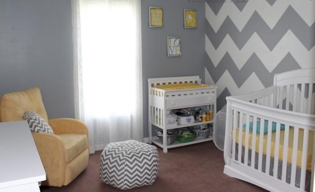 deco chambre bebe jaune gris - visuel #6