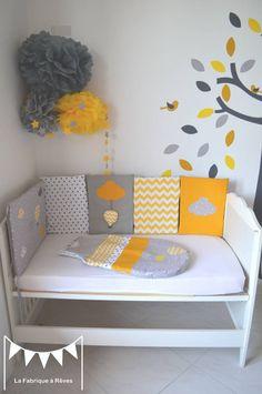 deco chambre bebe jaune gris - visuel #8