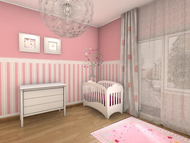 Deco chambre fille rose et blanc - Deco chambre bebe rose ...