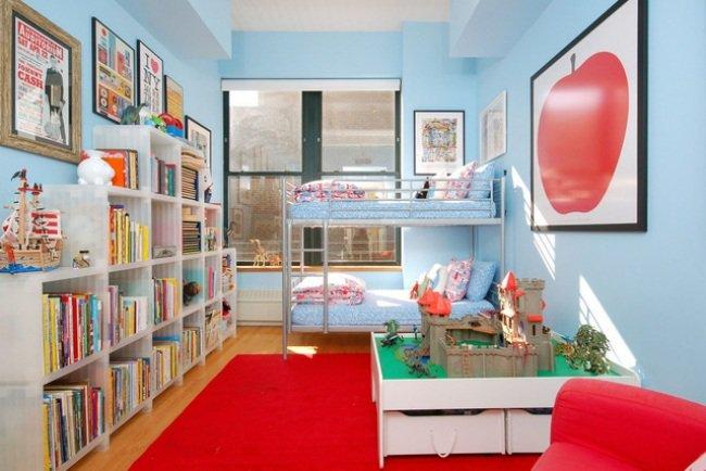 deco chambre garcon bleu et rouge. Black Bedroom Furniture Sets. Home Design Ideas