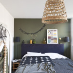 decoration chambre kaki