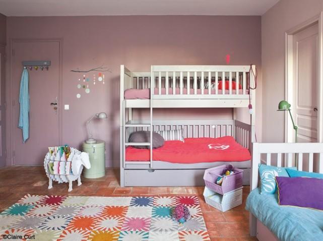 decoration chambre fille vieux rose