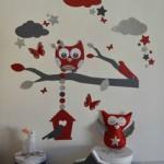 deco chambre bebe rouge et gris