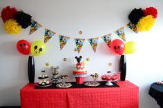 fabriquer deco anniversaire mickey