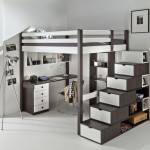 deco chambre ado avec lit mezzanine