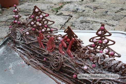 Decoration pour buche de noel maison