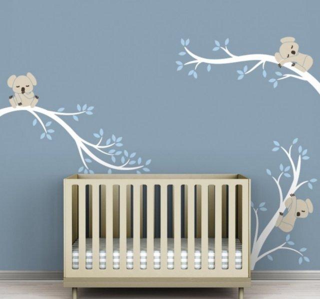 Chambre bebe deco murale - Idee decoration chambre bebe garcon ...