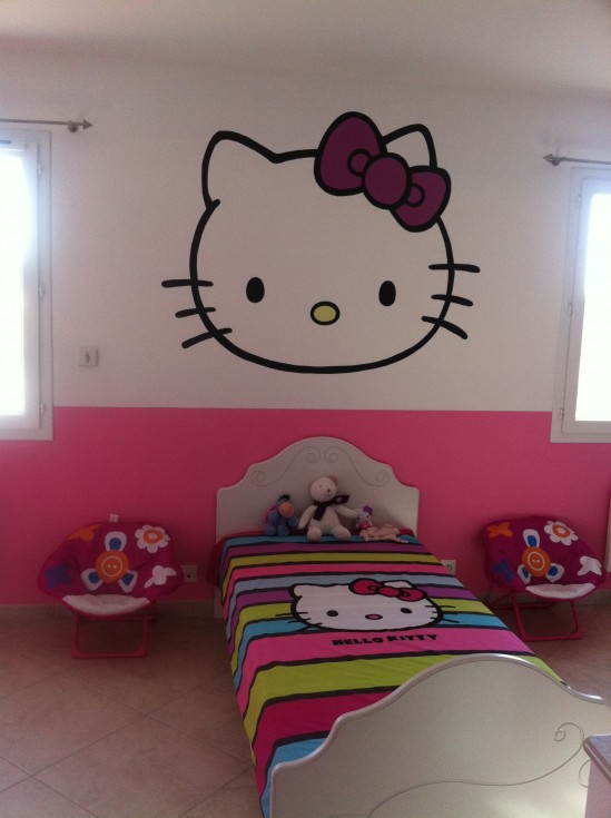 deco chambre hello kitty. Black Bedroom Furniture Sets. Home Design Ideas