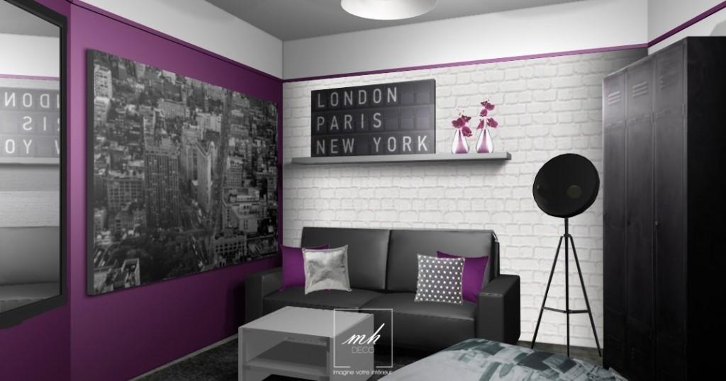 deco chambre fille new york