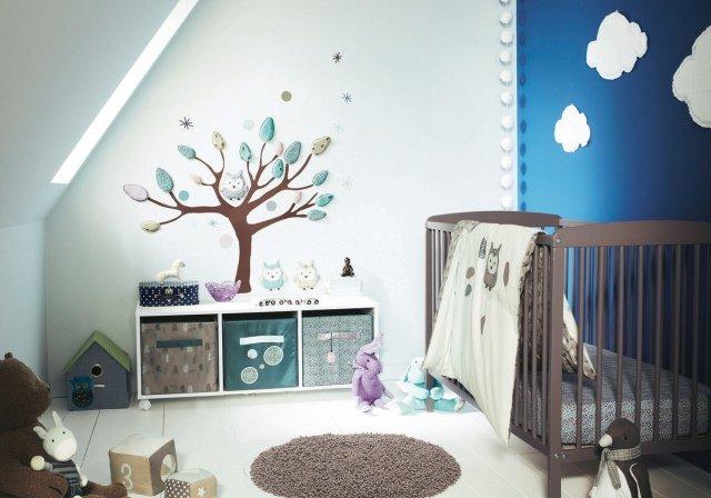decoration chambre de bebe hibou