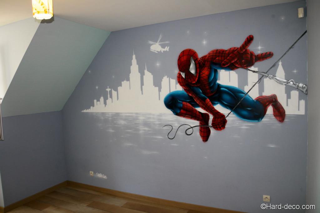 Decoration de chambre spiderman visuel 2 - Deco chambre spiderman ...
