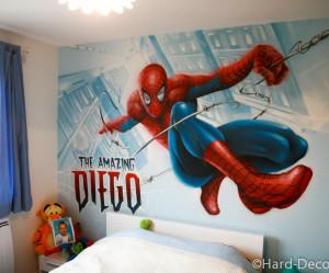 decoration de chambre spiderman