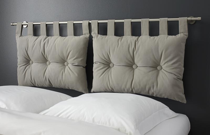 decoration tete de lit coussins. Black Bedroom Furniture Sets. Home Design Ideas